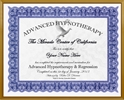 Adv. Hypnosis and Regression Training Certificate