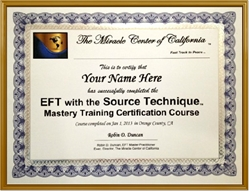 EFT with the Source Technique Training Certificate