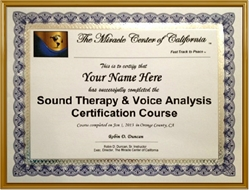 Sound Therapy and Voice Analysis Training Certificate